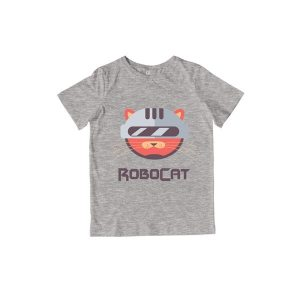 RoboCat T-Shirt Heather Grey