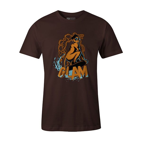 Glamour Monkey T shirt brown