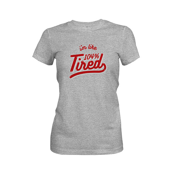 104 Tired T shirt heather grey