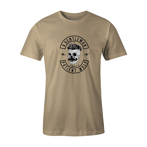A Gentleman Is Simply A Patient Wolf T shirt natural