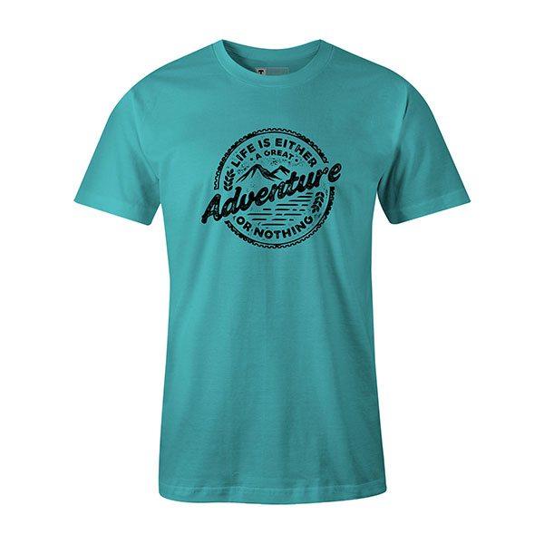 Adventure T shirt aqua