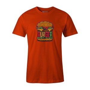 Burger T shirt orange