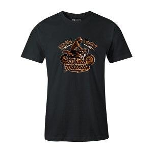 Death Machine T shirt coal
