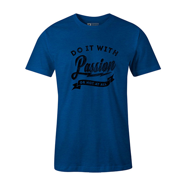 Do it with Passion T shirt heather royal