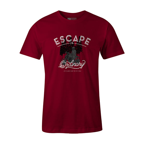 Escape The Ordinary T shirt cardinal