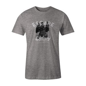 Escape The Ordinary T shirt heather grey