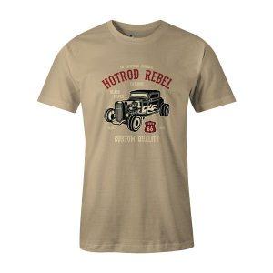 Hot Rod Rebel T Shirt Natural