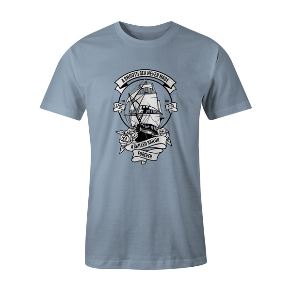 A Skilled Sailor T Shirt Baby Blue