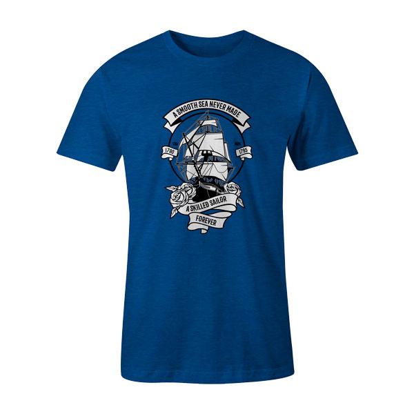A Skilled Sailor T Shirt Heather Royal