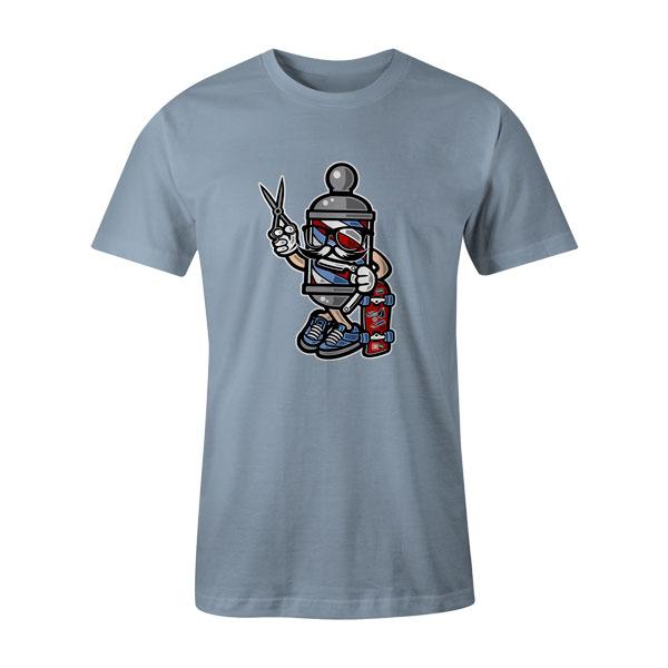 Barber Skater T Shirt Baby Blue