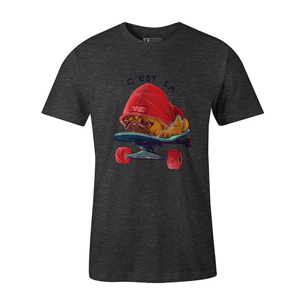 C est La Vie T shirt heather charcoal