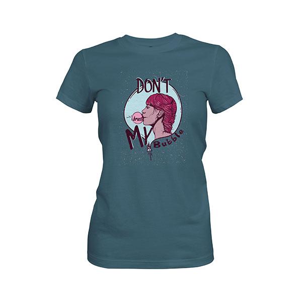 Dont Burst My Bubble T shirt indigo