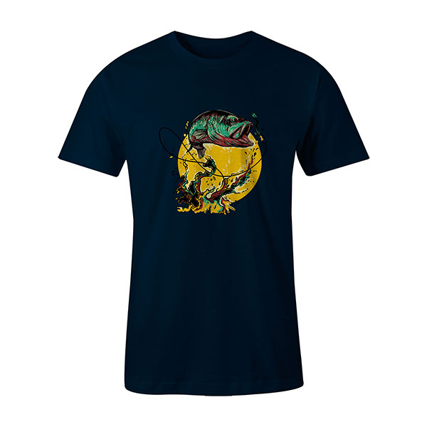 Fly Fishing T shirt navy