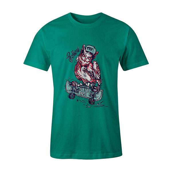 Follow The Black Owl T shirt mint