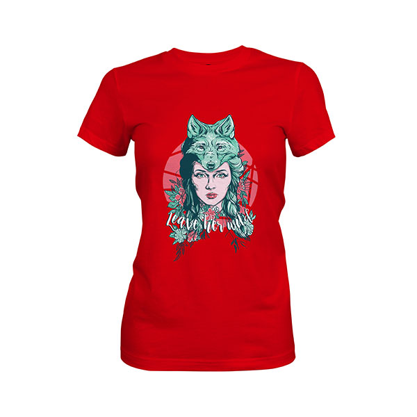 Leave Her Wild T shirt red