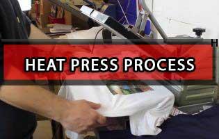 Heat Press Printing Method