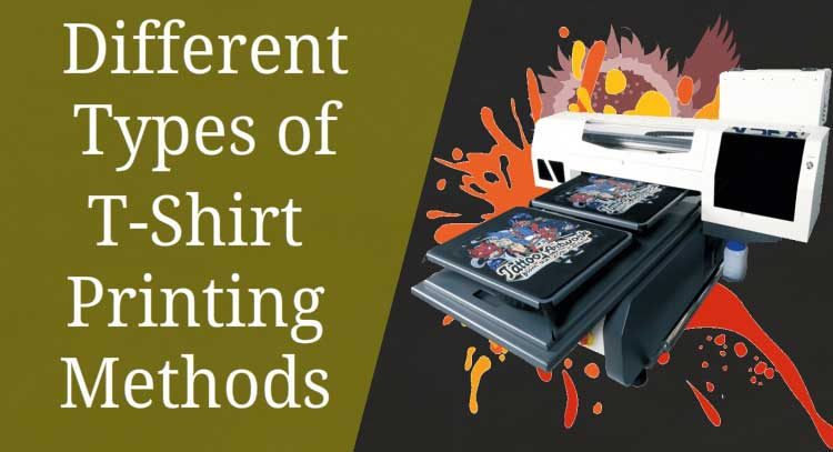 different types of t shirt printing methods finally