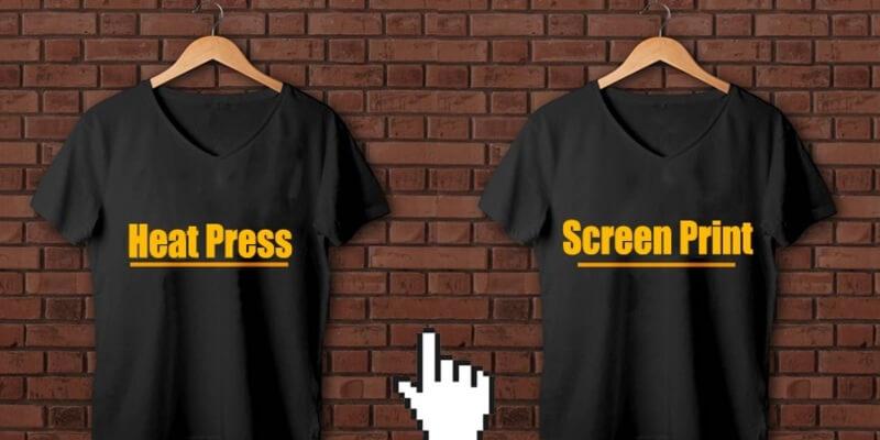 Screen Printing vs Heat Press Printing