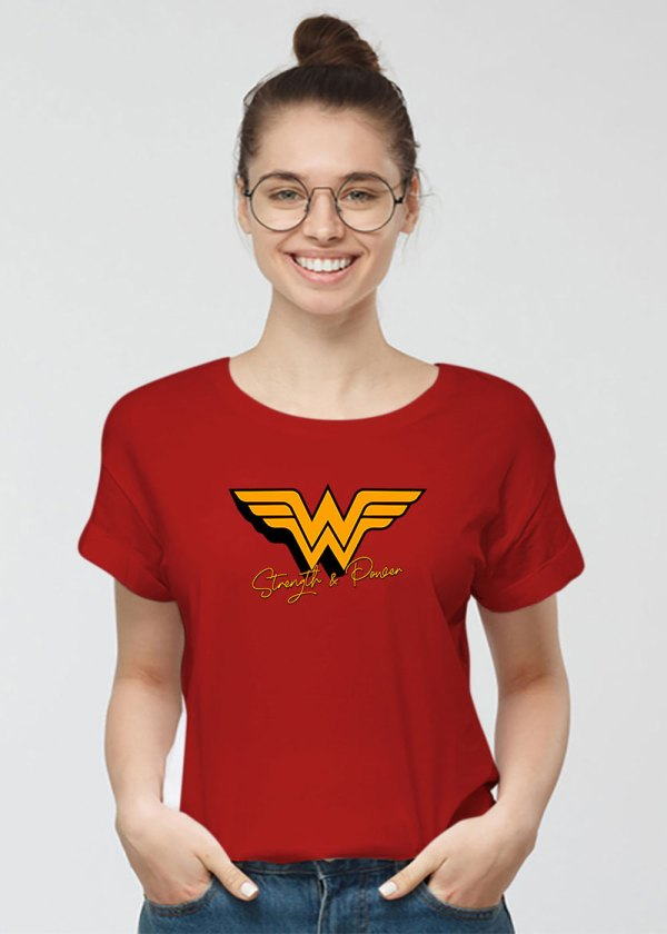 Women T-shirts (Strength and power)