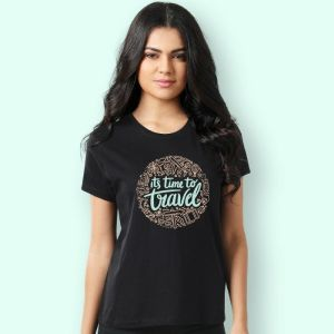 Women T-shirts (Its time to travel)