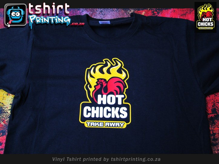 Hot chicks Take away Restaurant t shirt,vinyl tshirt printed