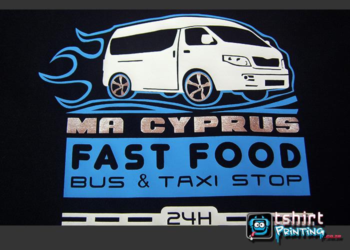 silver vinyl,taxi tshirt,south african taxi,taxi tshirt idea,blue vinyl tshirt printed,tribal taxi,tribal tshirt effect