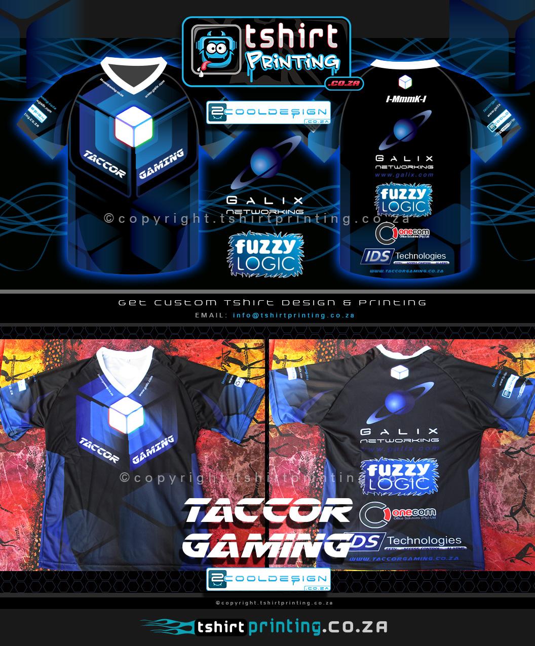 Shirt design games - Custom Gaming Shirt Design And Printing Taccor Gaming 2014 Shirts