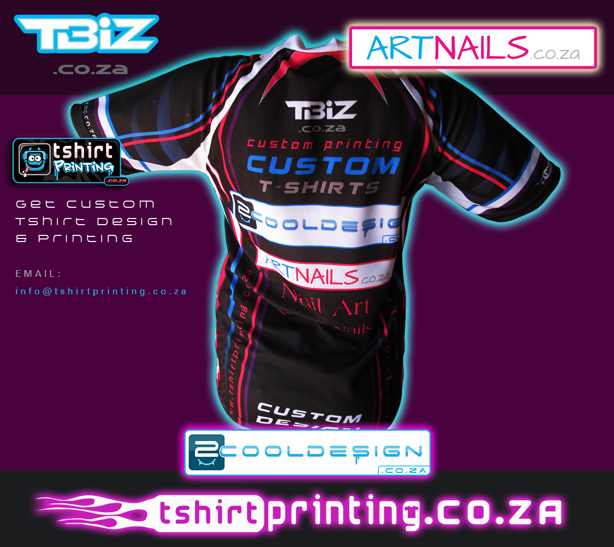 T shirt design za - Girls All Over Shirt Printing