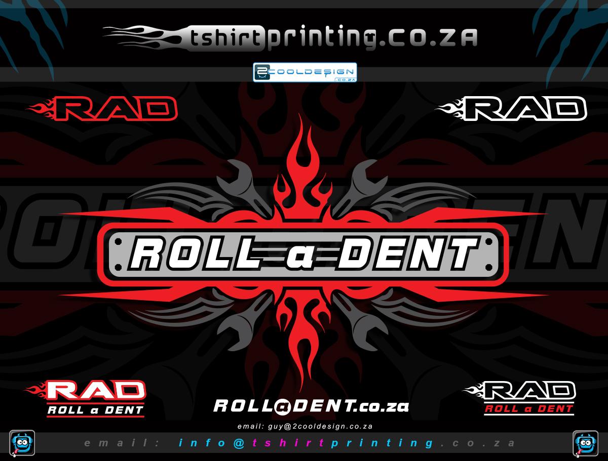 T shirt design za - Cool Auto Repair Logo Design Roll A Dent Brand Design
