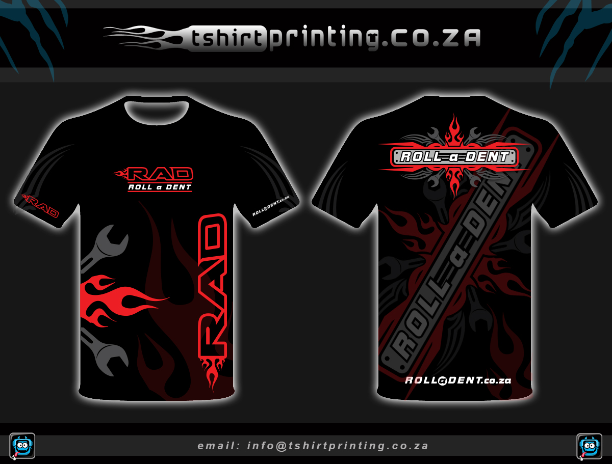 All Over Shirt Design For Car Repair Company OCT 2014 Roll A Dent Johannesburg  ...