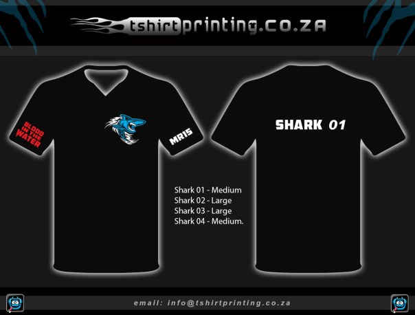 custom Fishing shirt, shark design