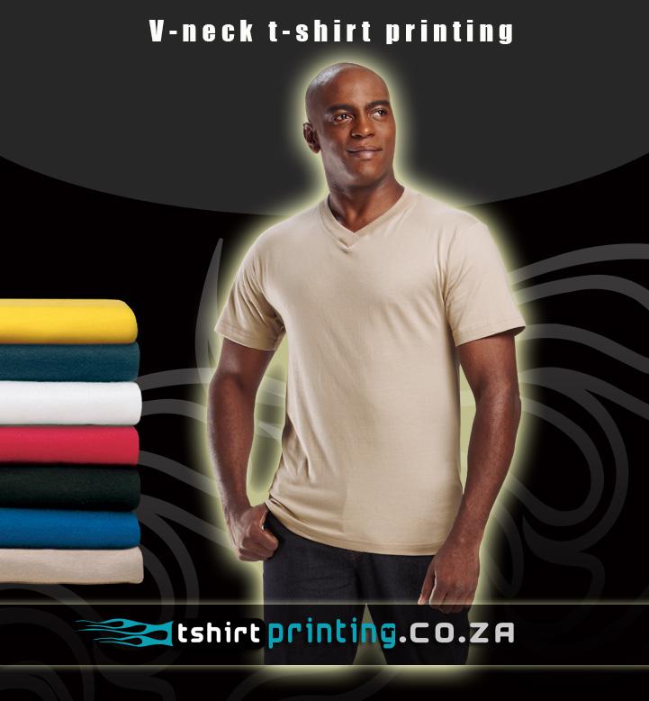 v neck t shirt printing