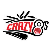 Crazy 8 Team Logo Action Cricket Logo Design T Shirt Printing Solutions