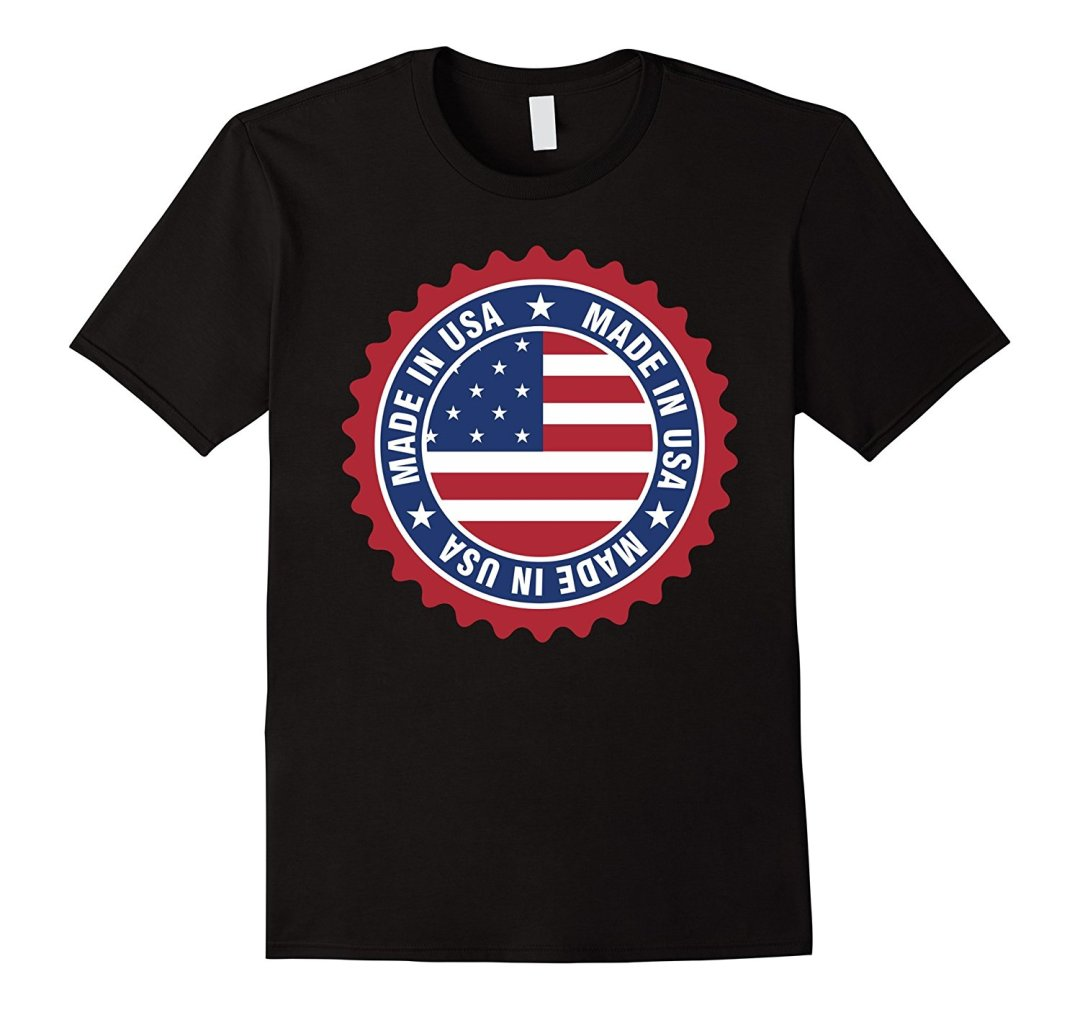 Made in USA Black T-Shirt