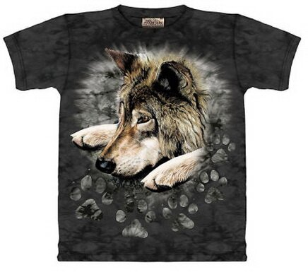 Wolf Paws T-Shirt Nature and Animals. Tags: Wolf+Paws+T-Shirt,