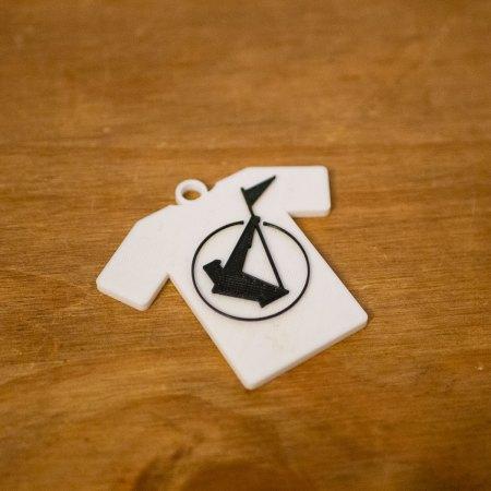 Frankie Logo Tee Shirt Keyring - 3D Printed in 2 colours - PLA 60mm (h) x 65mm (w) x 5mm (d) (Copy)
