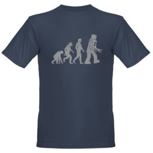 Robot Evolution Sheldon Cooper Tshirt
