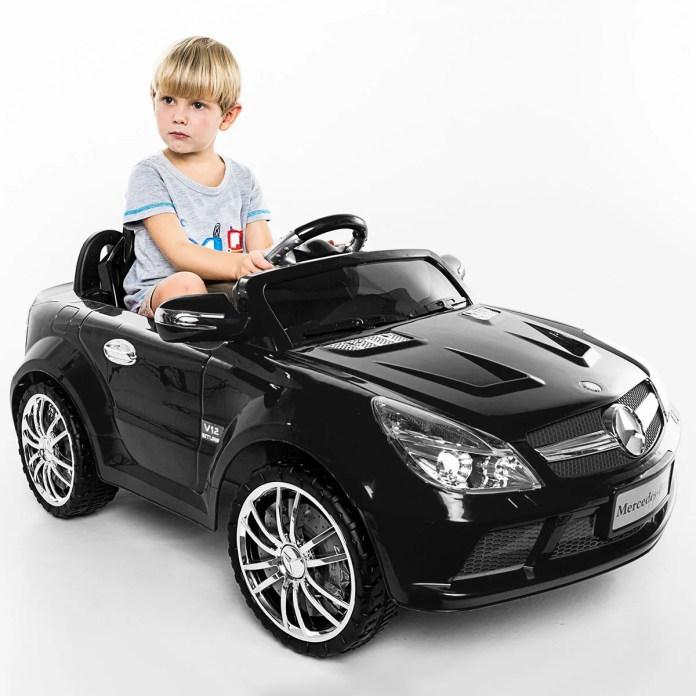 costway: costway 12v mercedes-benz sl65 electric kids ride on car