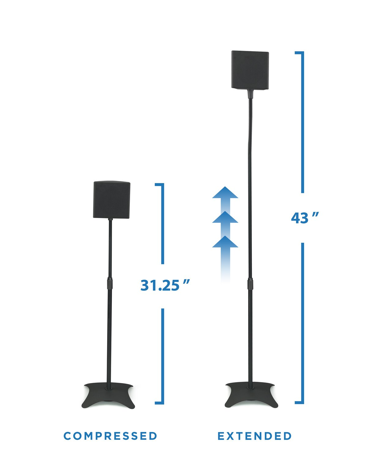 Mount It Mount It Speaker Stands For Home Theater 5 1