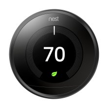 Nest 3rd Generation Programmable Wi-Fi Smart Learning Thermostat T3016US - Black 0
