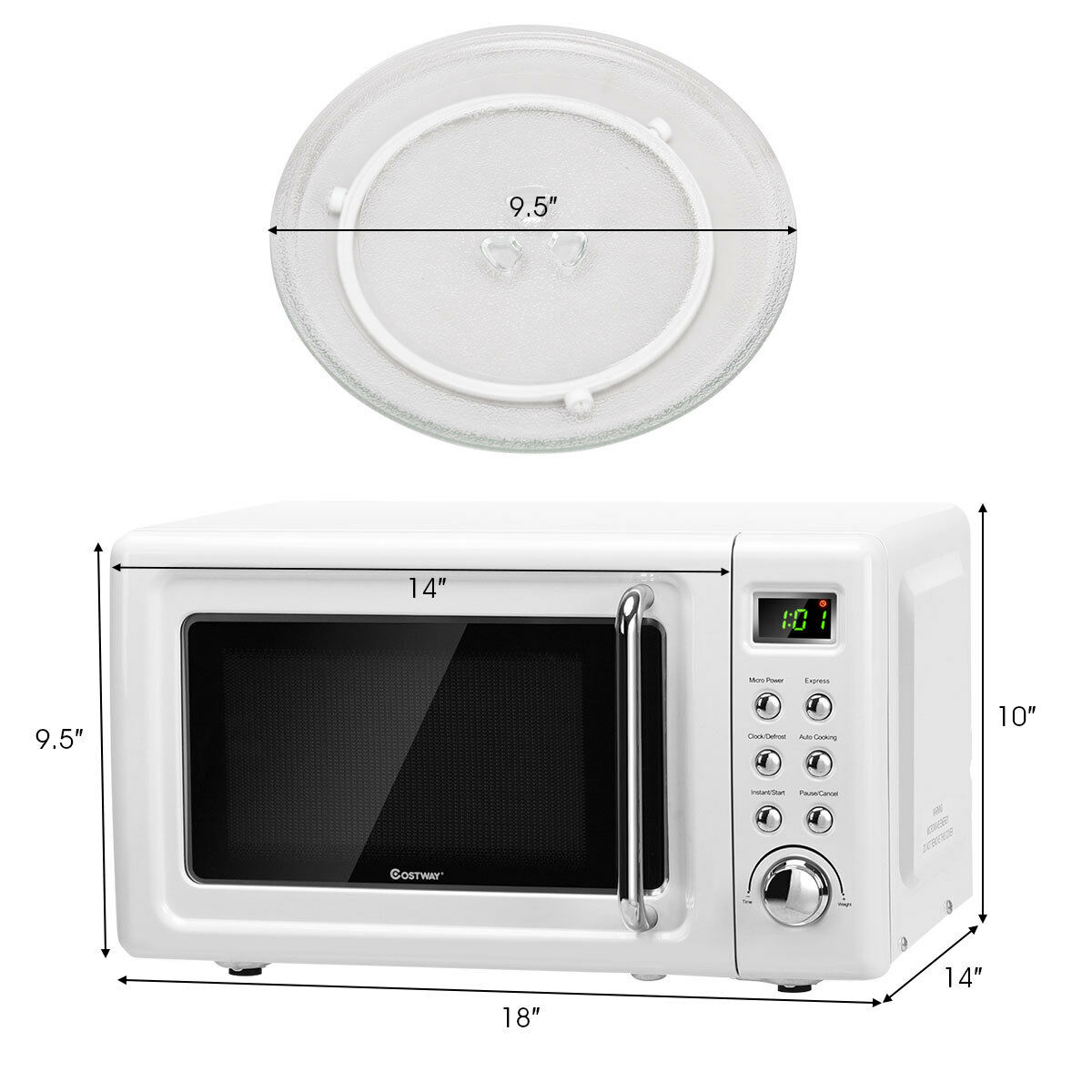 0 7cu ft retro countertop microwave
