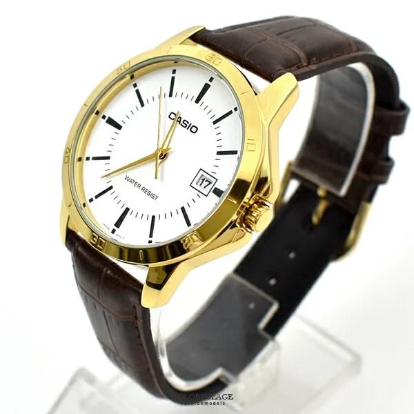 CASIO手錶 咖金刻度日期皮革錶【NECK1】   柒彩年代 - Rakuten樂天市場