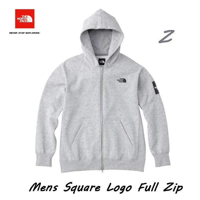 ザノースフェイス7月下旬出荷予定スクエアロゴフルジップ(メンズ)ジップ付きスウェットパーカTheNorthFaceMensSquareLogoFullZipNT61836(Z)ミックスグレー