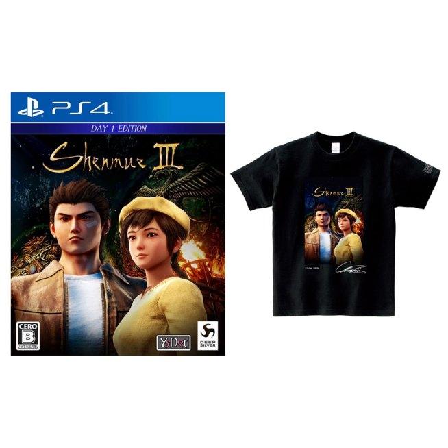 PS4 シェンムーIII リテールDay1エディション オフィシャルTシャツセット〈 XLサイズ〉