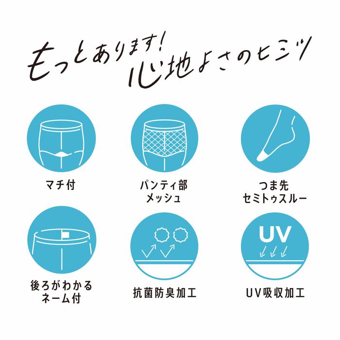 【満足《涼感さらっと》コンジュゲードパンティストッキング】MLL2L140-3901サマータイプ夏ストッキングレディース婦人福助フクスケ日本製