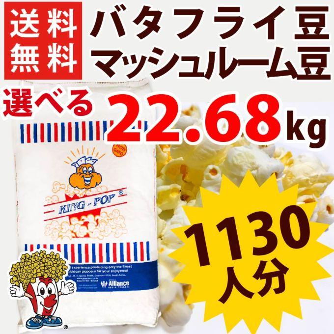 「送料無料 業務用ポップコーン豆 22.68kg バタフライ or マッシュルーム タイプ ( 約1130人分 ) KING」を楽天で購入