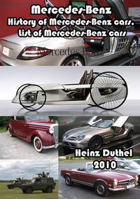Mercedes-Benz. History of Mercedes-Benz cars. List of Mercedes-Benz cars