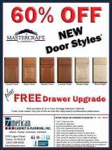 60% OFF Mastercraft NEW Door Styles + FREE Drawer Upgrade