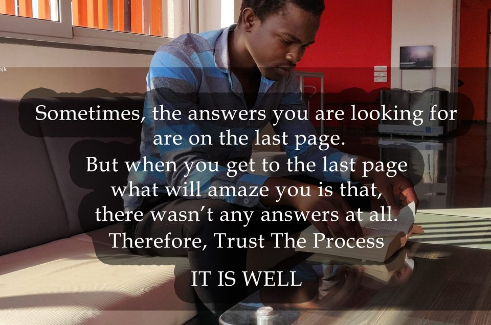 Sometimes The Answers Are On The Last Page
