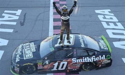 Aric Almirola Clinches Spot in Round of 8 with Talladega Win